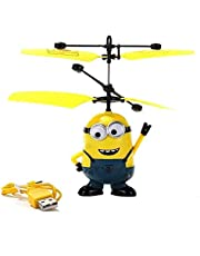 Minion Control Induction Helicopter Aircraft Children Toy