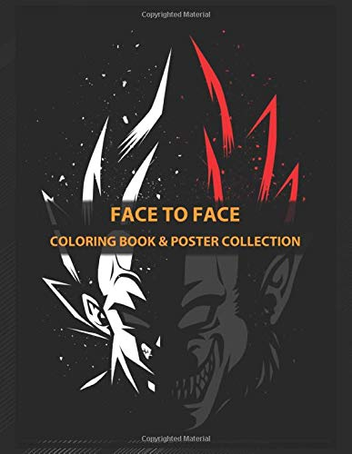 Coloring Book Poster Collection Face To Face Tribute A Cult Character Anime Manga Coloring Faceej Coloring Faceej 9781712683804 Amazon Com Books