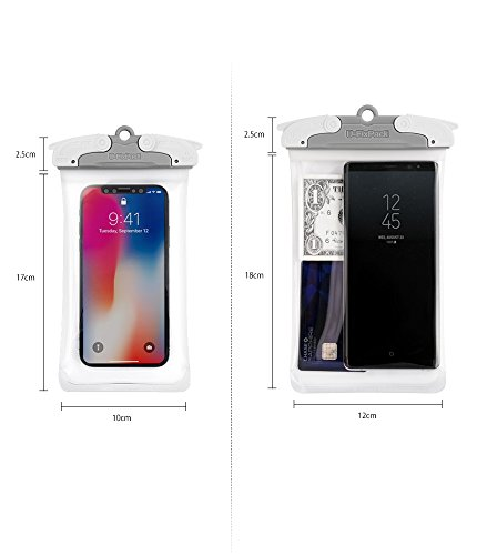 U-Fix ROUND Waterproof Universal Phone Case [Black] Clear Pouch Dry Bag for iPhone X, 8, 7 Plus, Samsung Galaxy S9, S9 Plus, S8, S8 Plus, Note 8, 6,Google Pixel 2, 2XL,LG up to 6.0'' Diagonal (Large) by Ringke (Image #7)