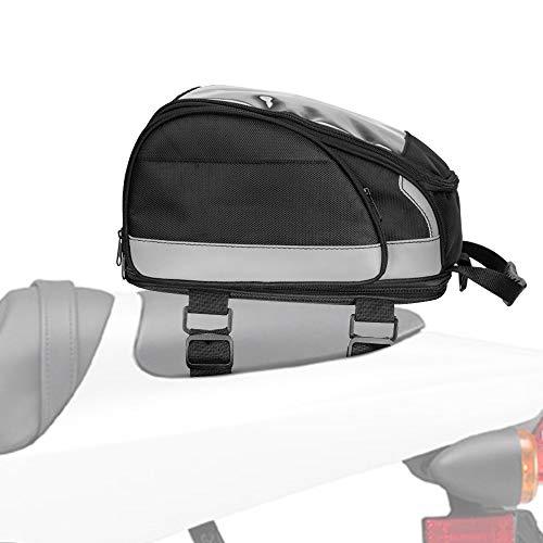 (Motorcycle Tail Bag Helmet Bag Storage Riding Backpack Expandable for Honda Yamaha Suzuki Kawasaki)