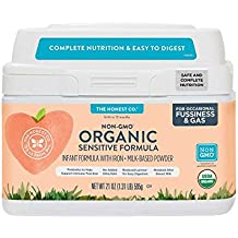 The Honest Co. Organic Non-GMO Sensitive Infant Formula for Occasional Fussiness & Gas, 21 Ounce