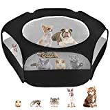 Small Animal Cage Playpen, Pet Playpen with Top