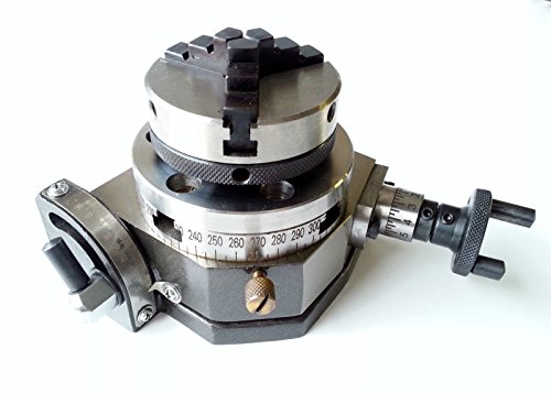 """OMEX New Rotary Table Tilting 3"""" / 75mm with 65mm Lathe Chuck for Milling Machine Set"""