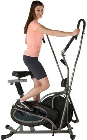Fitness Realidad E3000 2 en 1 Aire elíptica y bicicleta estática: Amazon.es: Deportes y aire libre