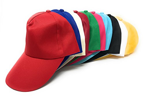 Sea View Treasures 50 Bulk Assorted Value Baseball Caps Hats (Teen and Adult Sized) ()