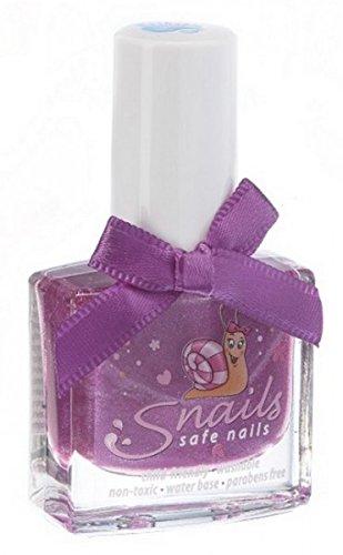 Caracoles para niños con diseño de esmaltes de uñas Raspberry de barro (colour morado de peluche con) - no tóxico & soluble en agua, en 21 coloures ...
