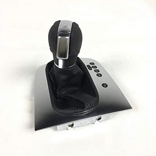 シフトノブ ゴルフ6 MK6 GTIジェッタGLI MK6との互換性レザーブラックステッチAT DSG変速ノブレバーカバー 普遍的 (Color : Black Stitching)