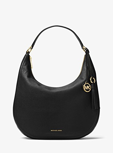 MICHAEL Michael Kors Women's Medium Lydia Hobo Bag, Black, One Size by MICHAEL Michael Kors