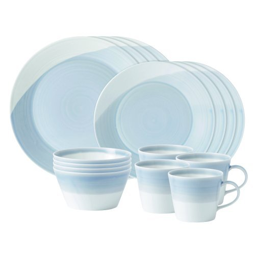 Blue Light Dinnerware - Royal Doulton 1815 16-Piece Set, Blue