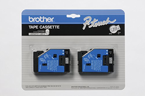 "2/Pack 1/2"" (12mm) Black on Clear P-touch TC Tape for Brother PT-10, PT10 Label Maker"