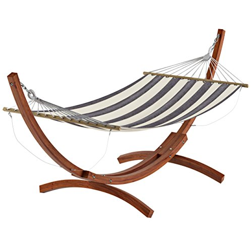 CorLiving PWC-364-H Wood Canyon Patio Hammock, Cinnamon Brown