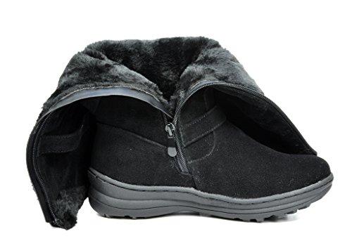 DREAM PAIRS Womens Winter Fully Fur Lined Zipper Closure Snow Knee High Boots Minx-black syrNHaM