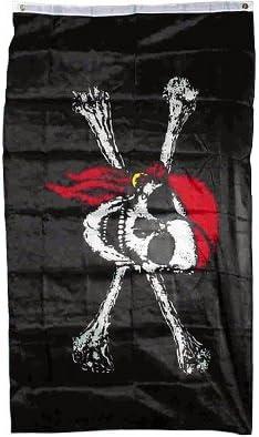 PIRATE FLAG 3ft x 2ft Flag SKULL /& CROSSBONES FLAG  JACK RACKHAM