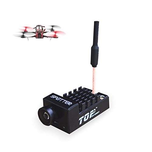 Spotter V1 Micro FPV AIO Camera 5.8G with OSD Integrated Mic FOV170 Degree 700TVL Video Transmitter 40ch 20MW/200MW Adjustable VTX for Mini FPV RC Drone by Crazepony