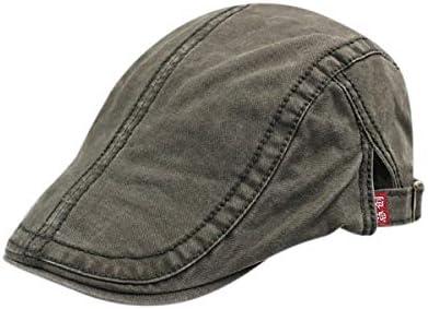 野球帽 キャスケット メンズ ハット ゴルフ コットン 日よけ 調整可能 シンプル ハンチング 55-61cm LWQJP (Color : ブラック, Size : M)