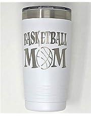 Basketball Mom 20oz Tumbler (White)