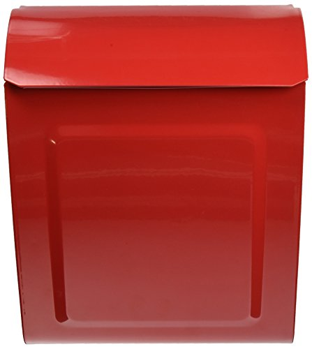 Architectural Mailboxes 2594R Aspen Locking Wall Mount Mailbox, Small, Red