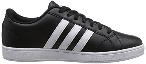 Adidas Neo línea de base W ocasional zapatilla de deporte, negro / blanco / blanco, 5 M US Black/White/White