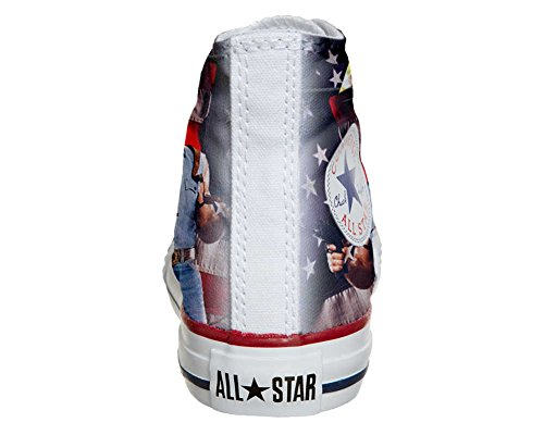 Converse Customized Adulte - chaussures coutume (produit artisanal) telefilm cult texas