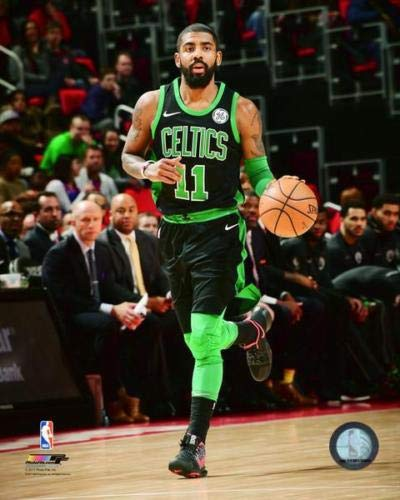 Officially Licensed Kyrie Irving Boston Celtics Dribble 8x10 Photo with Toploader