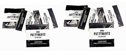 PottyMints Arancia Di Capri Travel Bathroom Toilet Odor Eliminator Air Freshener Tablets 8 Pack Black ()
