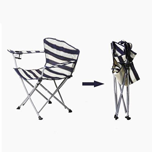Chaise Longues Chaise De Camping Pliante De Plein Air Chaise De Plage Avec Porte-gobelet À Toute Épreuve Fauteuil De Pêche, Rayures