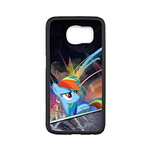 Custom My Little Pony Design Snap On Case Cover Shell Protector For Samsung Galaxy s6 G9200(Laser Technology)