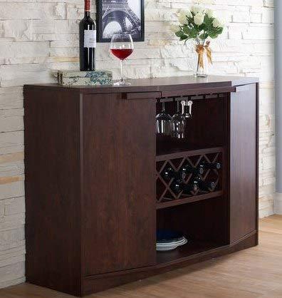 amazon com sideboard buffet storage cabinet walnut wood wine bar rh amazon com