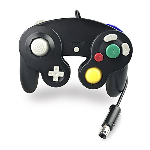 Crifeir The Wired Controller for Gamecube NGC Wii Video Game (Black)