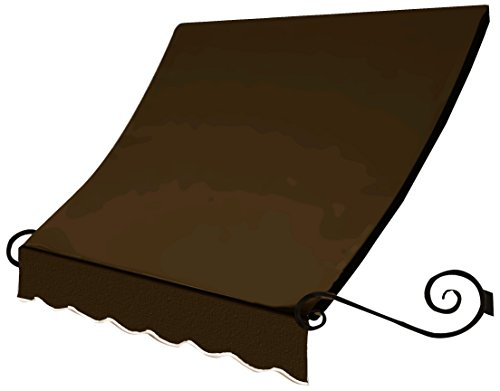 Awntech 8' Charleston Window (Awntech 8-Feet Charleston Window/Entry Awning, Brown, 44-Inch x 24-Inch)