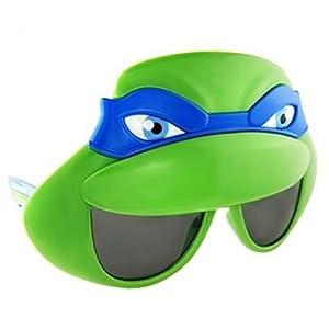 Sunstaches Teenage Mutant Ninja Turtles Leonardo Mask Sunglasses, Party Favors, UV400