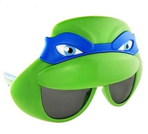 Sunstaches Officially Licensed TMNT Mask Sunglasses, Blue