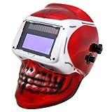Solar Powered Auto Darkening Welding Mask Welder Masks Mig Tig Arc (New Skull Design)