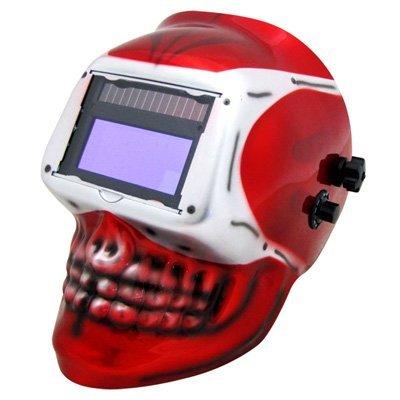 Solar Powered Auto Darkening Welding Mask Welder Masks Mig Tig Arc (New Skull Design) by EZ Travel Collection