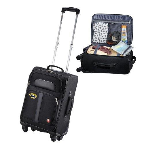Spring Arbor Wenger 4 Wheeled Spinner Black Carry On 'Cougar Head' by CollegeFanGear