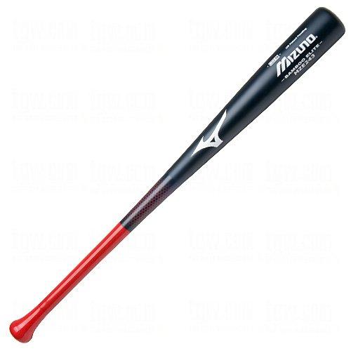 Mizuno Bamboo Elite Wood Baseball Bat, Navy/Red, 33-Inch