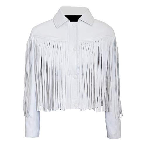 The Sparks Up Inc. L (12) - White - Genuine Leather - Sloane Peterson Jacket ()
