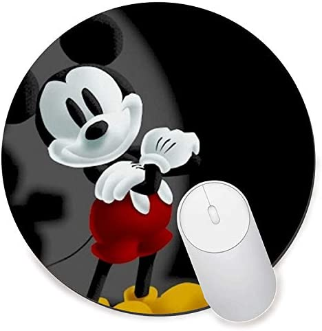 Round Gaming Mouse Pad Creative Custom Non-Slip Mouse Mat-Best Mickey Mouse