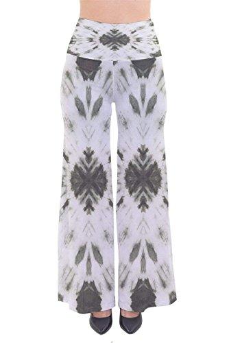 Grigio High Tempo Trousers Basic Waist Larghi Strisce Dritti Verticali Pattern Stampate Primaverile Pantaloni Ragazza Donna Baggy Scuro Estivi Eleganti Lunga Libero Tendenza qAxtxRSwF7
