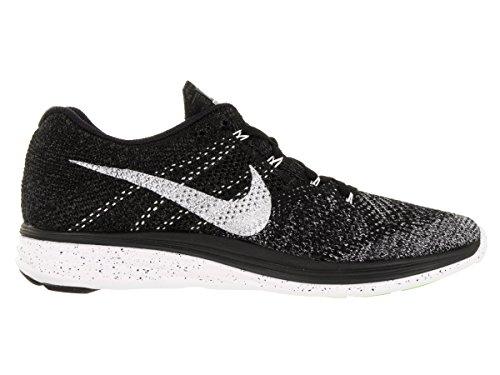 Nike Mens Flyknit Lunar3 Nero / Bianco / Metà Nebbia / Wlf Grigio Scarpa Da Corsa (13)