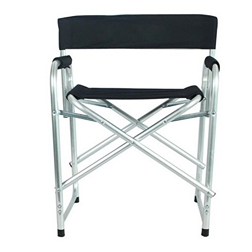 Portable Folding Director's Chair with Side Table [US Stock] (Black) (Custom Director's Chair)