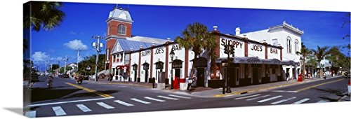 Canvas On Demand Premium Thick-Wrap Canvas Wall Art Print entitled Sloppy Joe's Bar Key West FL - West Street Duval Key