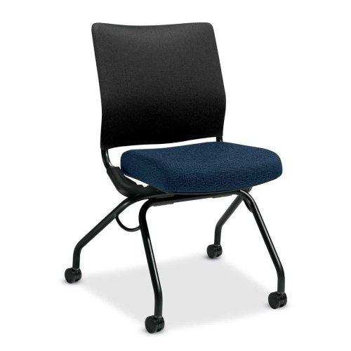 HON Perpetual Armless Nesting Chair - Navy Blue - 26