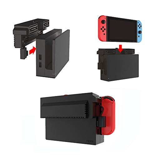 (Nintendo Switch Cooling Fan, External USB Power Cooling Fan Docking Station with 2 Small Fans Super Turbo Temperature Cooler Fan Stand for Nintendo Switch Original Dock Prevent Dust and Reduce Noise)