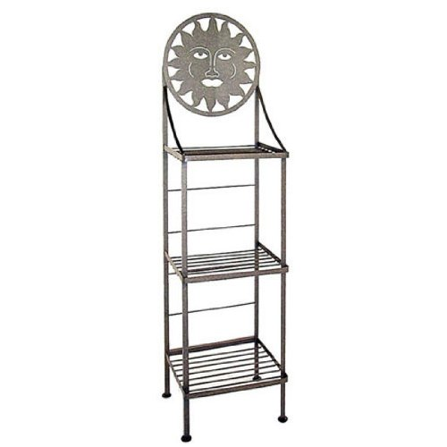 Gunmetal Cape - Grace Art/Silhoutte Hand Painted Bakers Rack, Gun Metal, Cape Hatteras Lighthouse Pattern