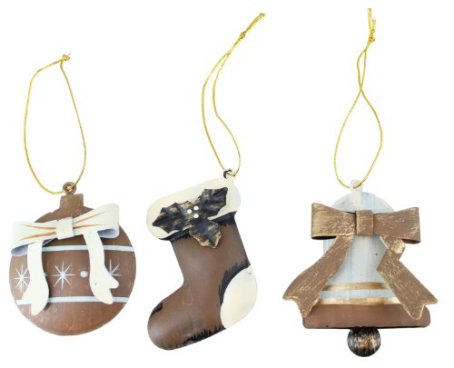 BELIEVE Handcrafted Metal Ornaments - Set Of 3