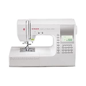 Singer 9960 Quantum Stylist 600-Stitch Computerized Sewing Machine with Extension Table, Bonus Accessories and Hard Cover by Singer