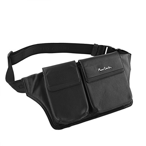 Pierre Cardin Genuine Leather Black Waist Running Belt Bum Bag Fanny Pack Pouch for Apple iPhone 6 6s / iPhone 6s Plus by Pierre Cardin (Image #5)