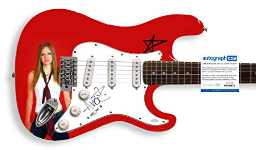 Avril Lavigne Autographed Signed Custom Guitar ACOA