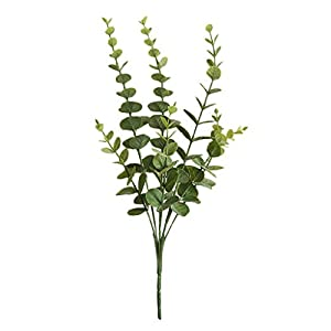 Iusun Artificial Flower Grass Eucalyptus Green Plant Floral Bridal Wedding Bouquet Party Festival Holiday Hanging Decorations Mother's Day Valentines Gift Hot Ornament (A) 61